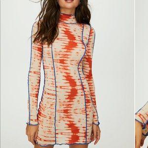 Aritzia Orbit Bodycon Tie Dye Dress